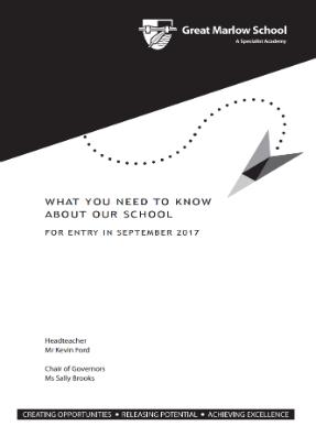 School information booklet